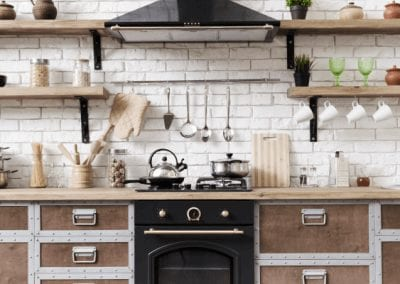 An old vintage style country kitchen